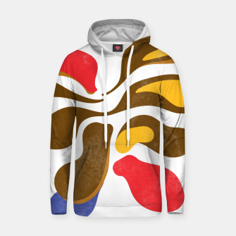 Thumbnail image of Abstract flower paint Cotton hoodie, Live Heroes