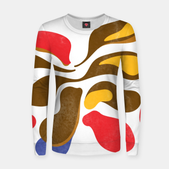 Thumbnail image of Abstract flower paint Woman cotton sweater, Live Heroes