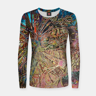 Imagen en miniatura de Fractal Traveler Woman cotton sweater, Live Heroes