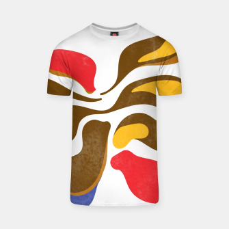 Thumbnail image of Abstract flower paint T-shirt, Live Heroes
