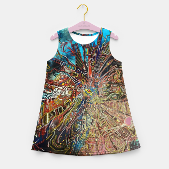 Imagen en miniatura de Fractal Traveler Girl's summer dress, Live Heroes