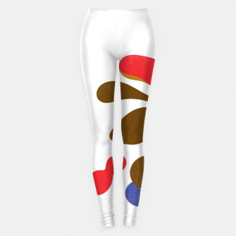 Thumbnail image of Abstract flower paint Leggings, Live Heroes