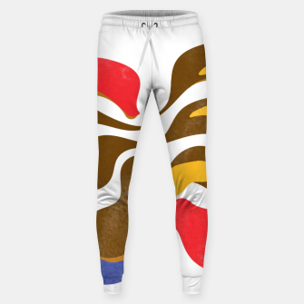 Thumbnail image of Abstract flower paint Cotton sweatpants, Live Heroes