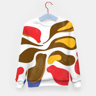 Thumbnail image of Abstract flower paint Kid's sweater, Live Heroes