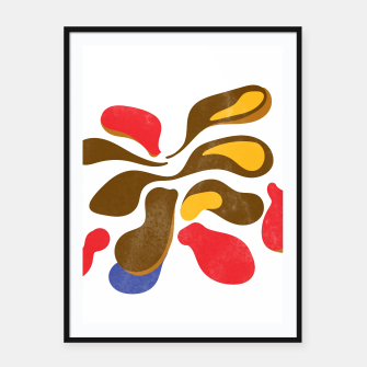 Thumbnail image of Abstract flower paint Framed poster, Live Heroes