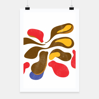 Thumbnail image of Abstract flower paint Poster, Live Heroes