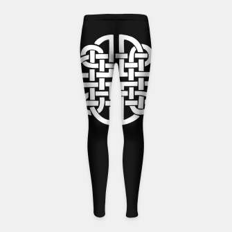 Miniaturka Celtic Viking Tribal Sun and Moon Girl's leggings, Live Heroes