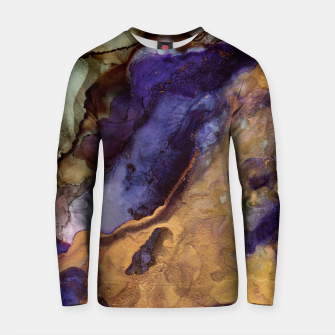 Thumbnail image of Purple and Gold Abstract Cotton sweater, Live Heroes