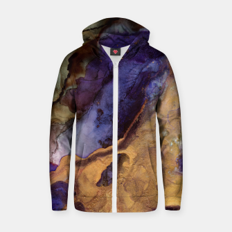 Thumbnail image of Purple and Gold Abstract Cotton zip up hoodie, Live Heroes