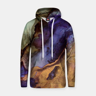 Thumbnail image of Purple and Gold Abstract Cotton hoodie, Live Heroes