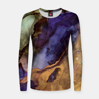 Thumbnail image of Purple and Gold Abstract Woman cotton sweater, Live Heroes