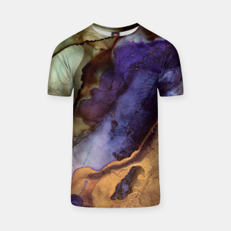 Thumbnail image of Purple and Gold Abstract T-shirt, Live Heroes