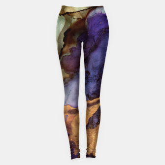 Thumbnail image of Purple and Gold Abstract Leggings, Live Heroes
