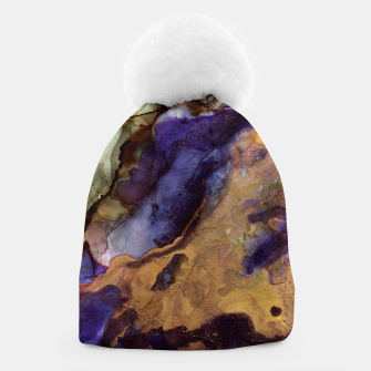 Thumbnail image of Purple and Gold Abstract Beanie, Live Heroes