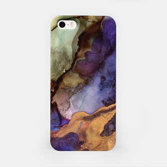 Thumbnail image of Purple and Gold Abstract iPhone Case, Live Heroes