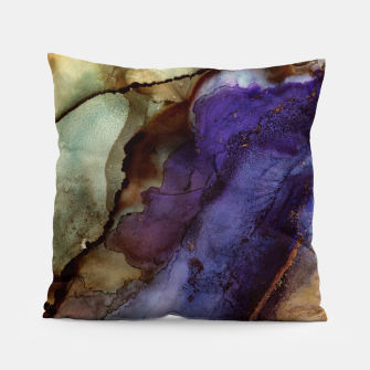 Thumbnail image of Purple and Gold Abstract Pillow, Live Heroes