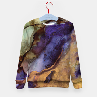 Thumbnail image of Purple and Gold Abstract Kid's sweater, Live Heroes