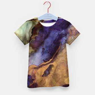 Thumbnail image of Purple and Gold Abstract Kid's t-shirt, Live Heroes