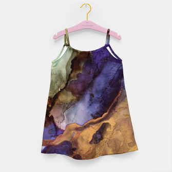 Thumbnail image of Purple and Gold Abstract Girl's dress, Live Heroes