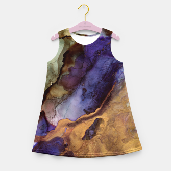 Thumbnail image of Purple and Gold Abstract Girl's summer dress, Live Heroes
