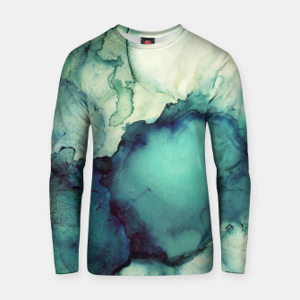 Thumbnail image of Teal Abstract Cotton sweater, Live Heroes