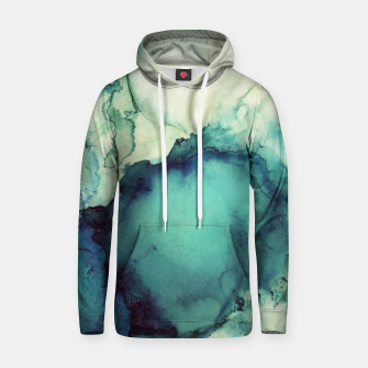 Thumbnail image of Teal Abstract Cotton hoodie, Live Heroes