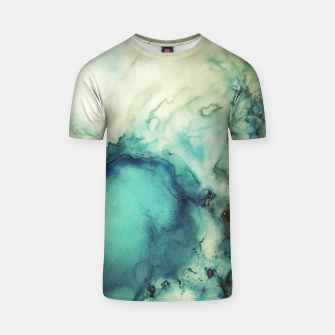 Thumbnail image of Teal Abstract T-shirt, Live Heroes