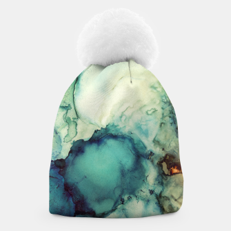 Thumbnail image of Teal Abstract Beanie, Live Heroes