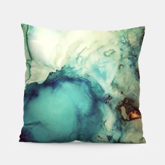 Thumbnail image of Teal Abstract Pillow, Live Heroes