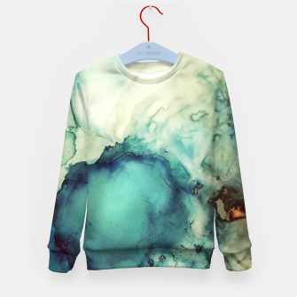 Thumbnail image of Teal Abstract Kid's sweater, Live Heroes