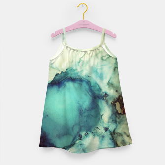 Thumbnail image of Teal Abstract Girl's dress, Live Heroes