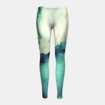 Miniaturka Teal Abstract Girl's leggings, Live Heroes
