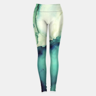Thumbnail image of Teal Abstract Leggings, Live Heroes
