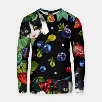 Thumbnail image of Cats and berries Cotton sweater, Live Heroes