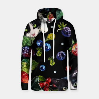 Thumbnail image of Cats and berries Cotton hoodie, Live Heroes