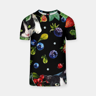 Thumbnail image of Cats and berries T-shirt, Live Heroes