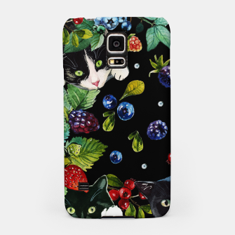 Thumbnail image of Cats and berries Samsung Case, Live Heroes