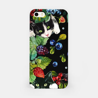 Thumbnail image of Cats and berries iPhone Case, Live Heroes