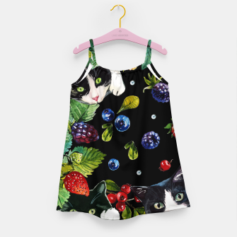 Thumbnail image of Cats and berries Girl's dress, Live Heroes