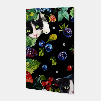 Thumbnail image of Cats and berries Canvas, Live Heroes