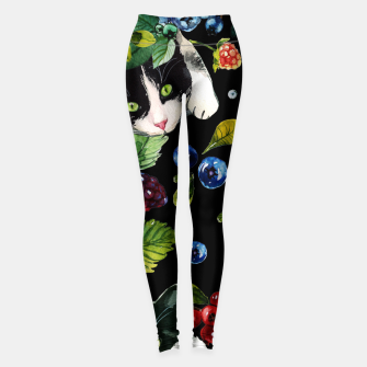 Thumbnail image of Cats and berries Leggings, Live Heroes