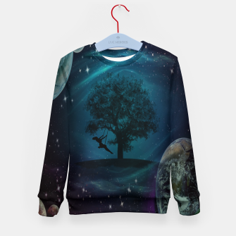 Thumbnail image of Tree Swing In Space Kid's sweater, Live Heroes
