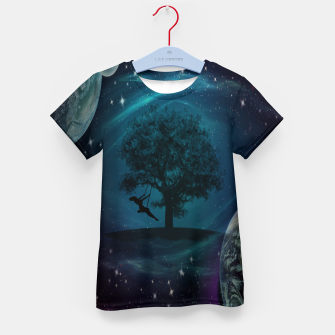 Thumbnail image of Tree Swing In Space Kid's t-shirt, Live Heroes