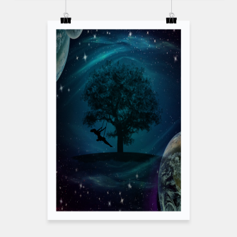 Thumbnail image of Tree Swing In Space Poster, Live Heroes