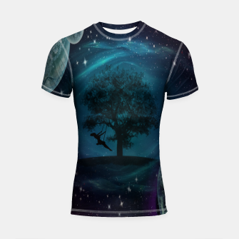Thumbnail image of Tree Swing In Space Shortsleeve rashguard, Live Heroes