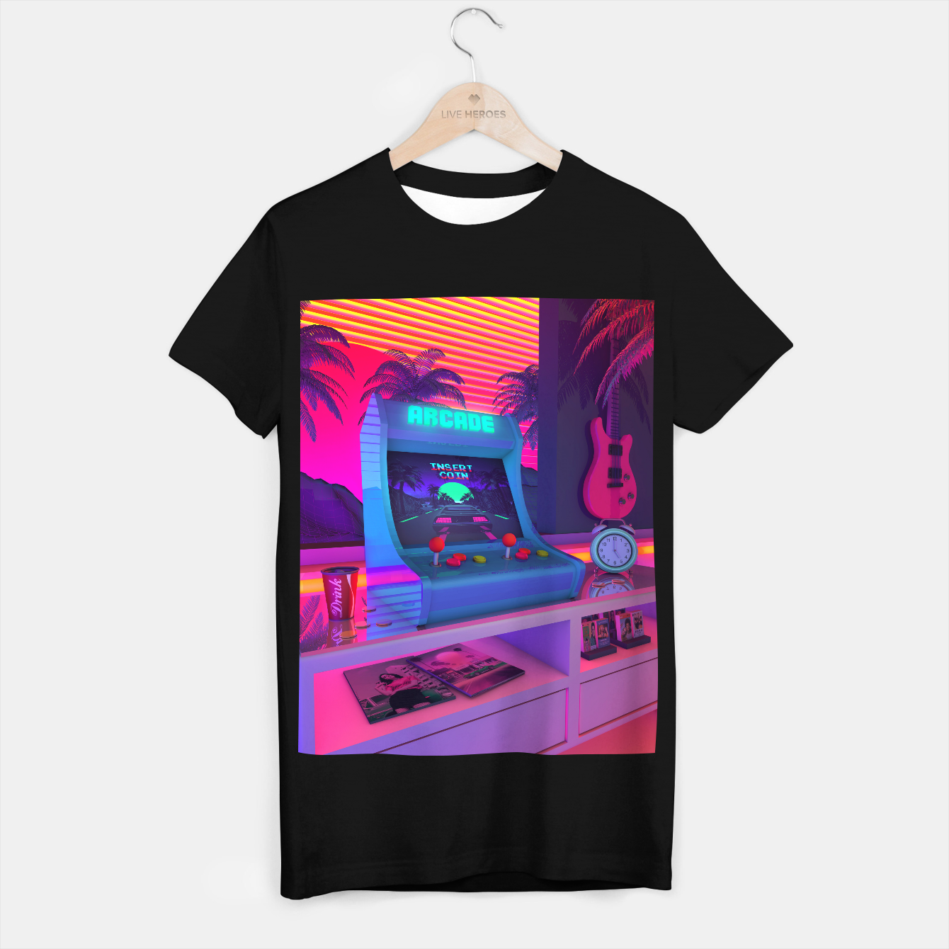 Image of Arcade Dreams T-shirt regular - Live Heroes