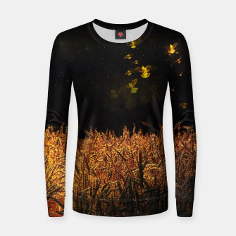 Thumbnail image of Golden wings Woman cotton sweater, Live Heroes