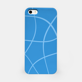 Miniatur Abstract pattern - blue. iPhone Case, Live Heroes