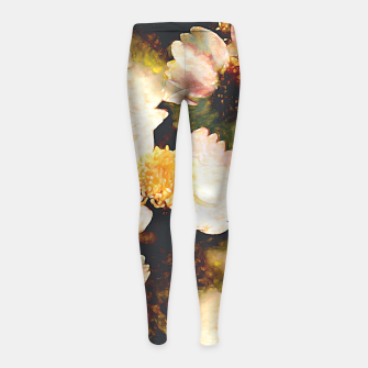 Miniaturka Colorful flower pattern Girl's leggings, Live Heroes