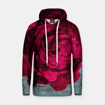 Miniaturka   Dark Rose Cotton hoodie, Live Heroes